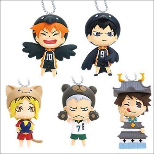 Kigurumi Mascot Haikyu Charm Key chain Swing Figure Takara Tomy Haikyuu!