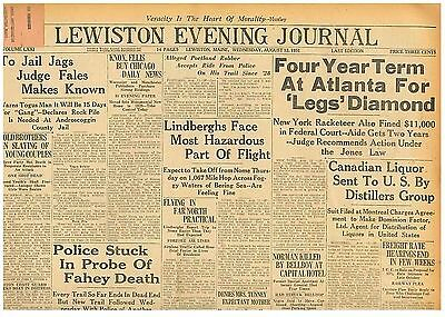 Historical Memorabilia Original Newspaper Four Year Term Atlanta For 'legs' August 12 1931 030813c B12