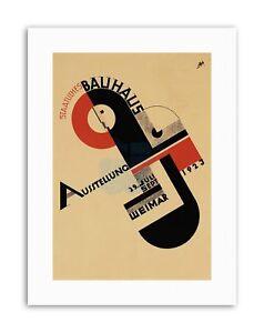 BAUHAUS WEIMAR ICON GERMANY Vintage Advert Retro Exhibition Canvas art Prints