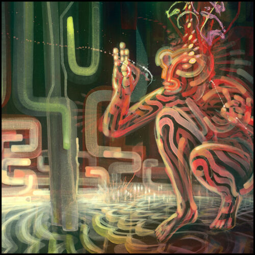 """signiertes Poster/""""Der Weltanhalter/"""" Visionäre Kunst Dennis Konstantin Bax"""