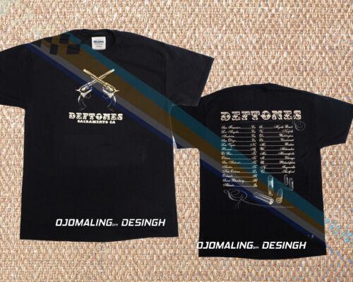 New 2003 Pre-Owned DEFTONES Vintage T Shirt TOUR Concert Dual Revolvers Men