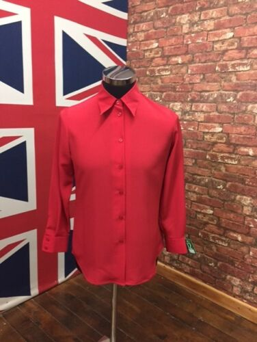 BUY ONE GET ONE FREE !! Formal Wear ! New Ladies Long Sleeve Ruby Red Blouse