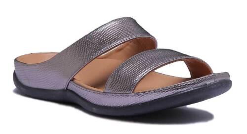 Strive Lombok Women Leather Champagne Double Straps Slide Sandals UK Size 3-8