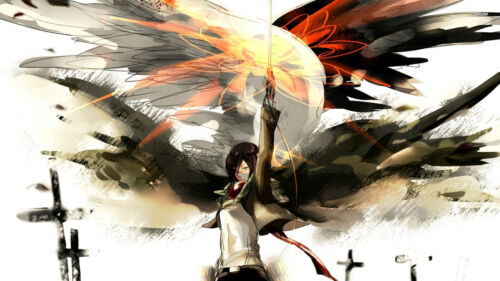 ATTACK ON TITAN ANIME MIKASA AOT05 A3 POSTER ART PRINT BUY 2 GET 3RD FREE