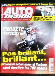 Auto Hebdo Du 23/6/2010; Enquête Mercedes Gp/ Schumacher Et Rosberg Pas Au Top