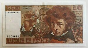 Billet-De-Banque-10-Francs-Berlioz-Du-2-6-1977-G-298-835094-1-Epinglage