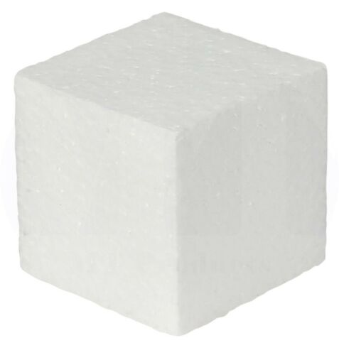 """15 Pieces White Square EPS Foam Block Cubes by MT Products 2/"""" X 2/"""" X 2/"""""""