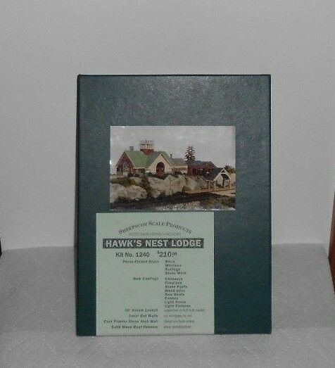 Sheepscot   1240 HAWK'S NEST LODGE CRAFTSMAN LIMITED EDITION KIT HO GAUGE NIB