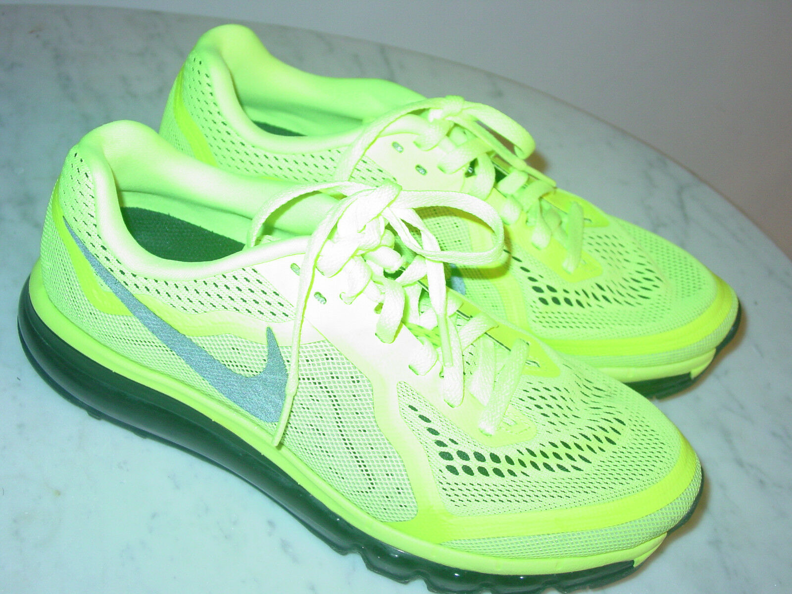 2013 Nike Air Max 2014 Black Volt Running shoes  Size 8.5