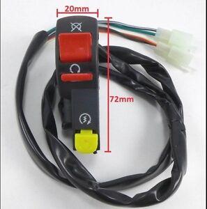 "Universal 7/8"" 22mm Handle Bar ON/OFF Starter Switch For ATV Scooter Dirt Bike B"