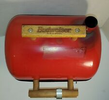 Vintage Budweiser Red Charcoal Grill Z00 Portable