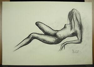 Ben-Shchechnye-1911-1996-Naked-Woman-Nude-Naked-Woman-Print-Original-54-CM