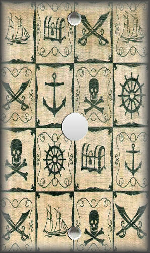 Kids Room Pirate Decor Pirate Map Home Decor Metal Light Switch Plate Cover