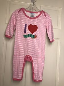 Eric Carle Baby Girl Pink One Piece Sz 9 12 Month Ebay