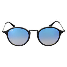 Ray Ban Round Fleck Blue Gradient Flash Sunglasses RB2447 901/4O 49