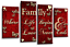 FAMILY LOVE QUOTE ART Picture Red Cream Home Canvas Split 4 Panel