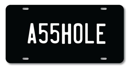 A55HOLE License plate novelty car vanity tag Funny Adult Humor