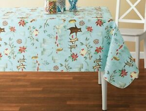 Details About Holiday Time Dancing Critters Vinyl Tablecloth 52 X 70 Inches 100 Peva