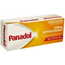 Item 8 PANADOL 500MG 24 SUPPOSITORIES EFFECTIVE TEMPORARY PAIN RELIEF PARACETAMOL