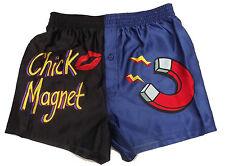 "Novelty Satin Boxer Shorts ~ CHICK MAGNET ~ SMALL / 28 - 30"""