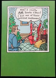 image is loading new carlton cards funny santa extreme makeover humorous - Humorous Christmas Cards