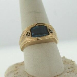 10k Gold Mens Ring Size 9 1/2