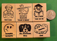 Spanish/English Teacher's Bilingual Rubber Stamp Set of Six