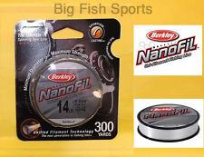BERKLEY NANOFIL Fishing Line 14lb-300yd #NF30014-CM CLEAR MIST FREE USA SHIP!