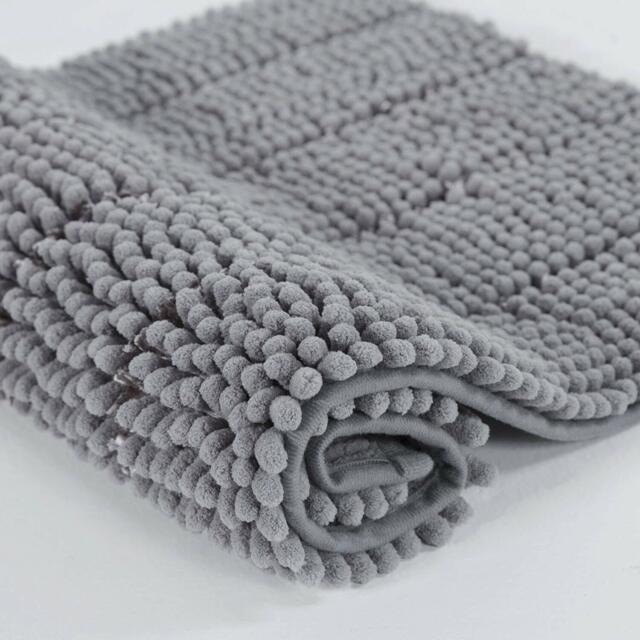 Cotton Bath Mat Set Reversible Soft