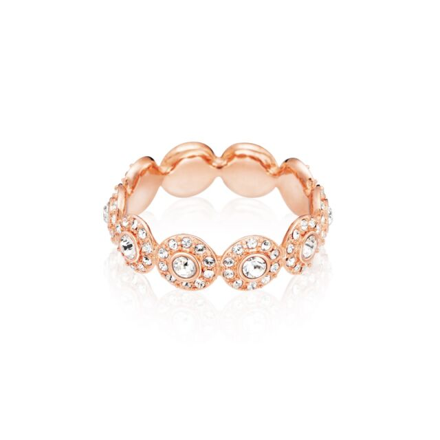 5da81cfc29338 Halo Angelic Ring with Swarovski Crystals Rose Gold Plated MYJS