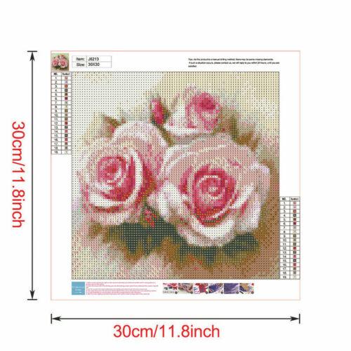 Fresh Flower Full Drill DIY 5D Diamond Painting Cross Stitch Kits Decor Mosaic