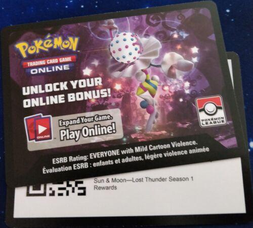 Deckbox 1X PTCGO Code Card ON HAND Pokemon:Lost Thunder Season 1-4X Jumpluff