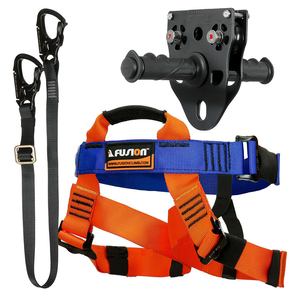 Fusion Tactical Kids  Zip Line Kit Harness Lanyard Trolley FTK-K-HLT-09  save up to 70%