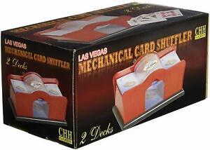 Hand Crank Manual Card Shuffler 1 or 2 Deck Casino Poker Blackjack Bridge