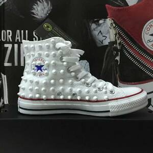 converse alte all star bianche