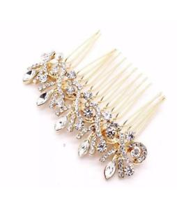 Sposa Gioiello Cristallo Diamante Pettine Per Capelli Clip Slide Fascinator con Parrucchino
