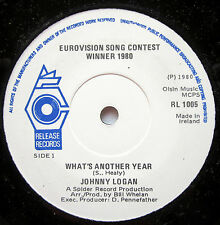 """7"""" Vinyl Single: WHAT´S ANOTHER YEAR - Johnny Logan"""