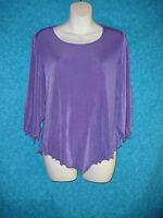 Citiknits Xs Purple Knit Top With Tags Slinky Made In The Usa
