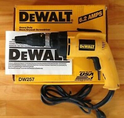 NEW DEWALT DW257 ELECTRIC DRYWALL DECK SCREW DRIVER DRILL TOOL 120 V 6 AMP VSR