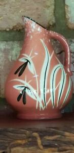 50s-Small-West-German-FUSCHIA-Vase-14-plus-post-10cm-tall