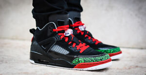 Mens Nike Air Jordan Spizike Retro Sneakers New Black Red Green ... ef83e338b