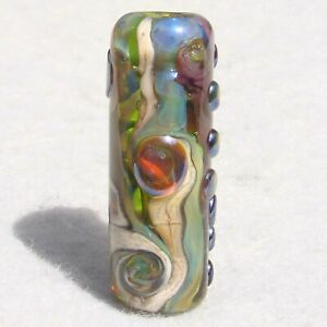 GUIMARD-Handmade-Art-Glass-Focal-Bead-Flaming-Fools-Lampwork-Art-Glass-SRA