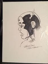 Original Art RON FRENZ CAPTAIN AMERICA 9 x 12 Commission ink Avengers