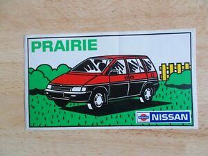 Autocollant-sticker-NISSAN-PRAIRIE