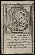 HL.CAECILIA V.M. Kupferstich 17. Jh.