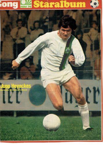 Original Autogramm Jupp Heynckes Borussia Mönchengladbach 21 x 29cm