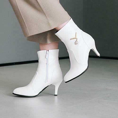 Details about  /Women/'s Stiletto High Heels Ankle Boots Ladies Zip Up Casual Party Shoes 44//48 D