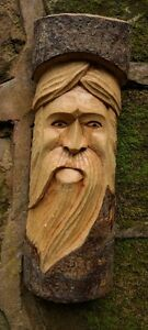 Green-man-of-the-woods-hand-carved-wizard-tree-trunk-wood-man-ENT-LOTR-30cm-D