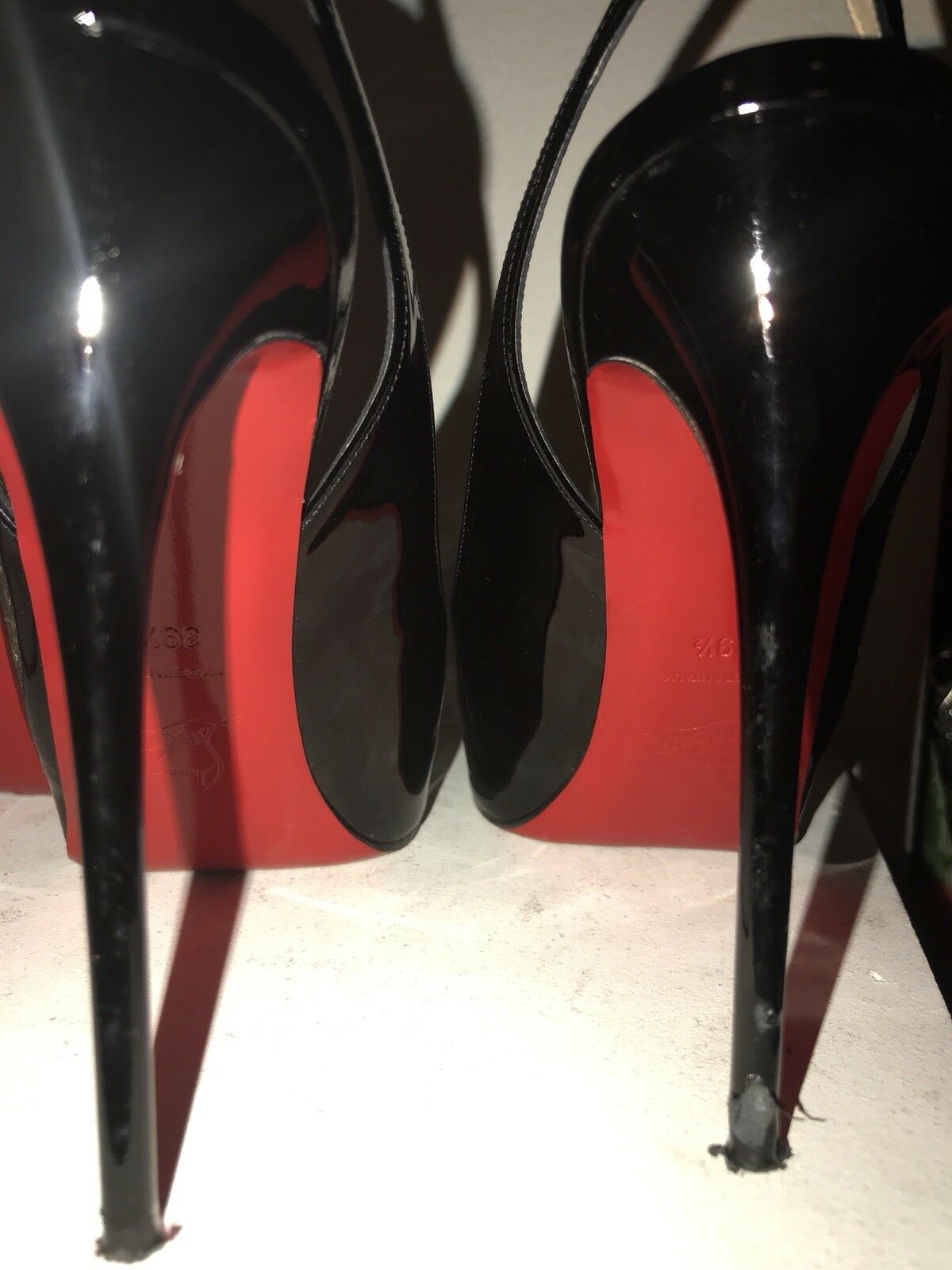 Christian Christian Christian Louboutin private number Peep Toe Heels Taille 39.5 85c307