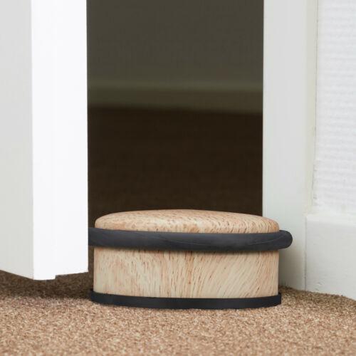 2 x Türstopper Holz-Optik Türaufhalter Bodenstopper Bodenpuffer Zuschlagbremse